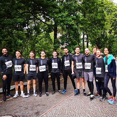 Das Team der FEG Communty beim alljährlichen Firmenlauf #Teamspirit