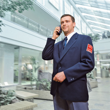 Dussmann Service, Sicherheitsdienst zum Beispiel Werk- und Objektschutz, Veranstaltungsdienste oder Feuerwehr und Brandschutzdienste.