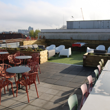 Enjoy a barbecue on our rooftop terrace.