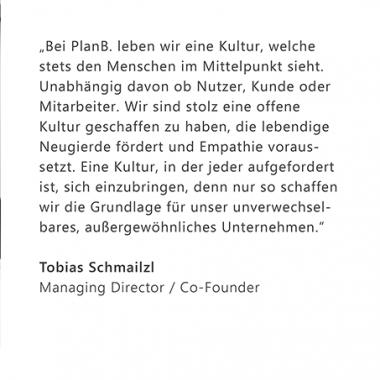 PlanB. Unternehmenskultur