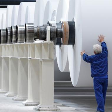 Papierproduktion in Stockstadt