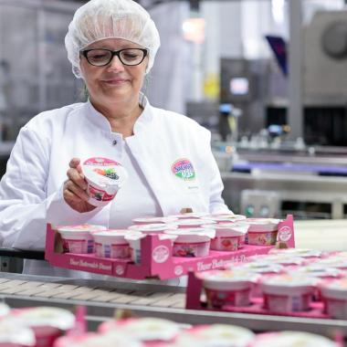 Produktion Sachsenmilch Produkte