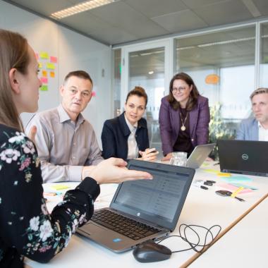 Besprechungsraum - Brainstorming der Innovationsmanager