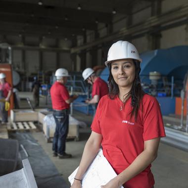 Arbeiten in einem unserer Kraftwerke