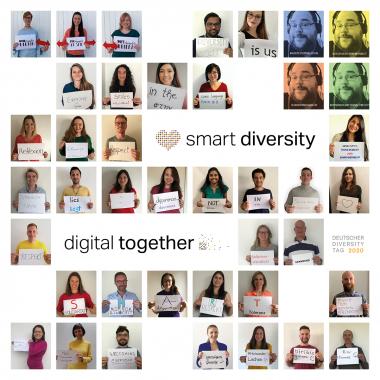 Smart Digital zeigt #FlaggefürVielfalt beim 8. Deutschen Diversity Day #DDT20