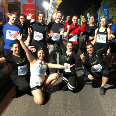 Das COUNT IT-Team beim Business Run