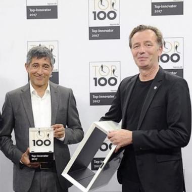 Innovationspreis Ranga Yogeshwar und Karl Bell von Inwerk