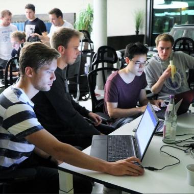 Hackathon im Foyer
