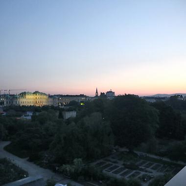 Ausblick auf das Belvedere in Wien