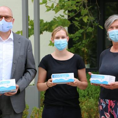 Übergaben von 1.3 Mio Schutzmasken für die Mitglieder des Paritätischen in Ba-Wü