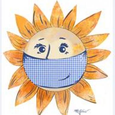 Maske auch bei Sonnenschein - zum Schutz für alle!