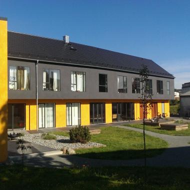 Innenhof der therapeutischen WG TWIST in Stralsund