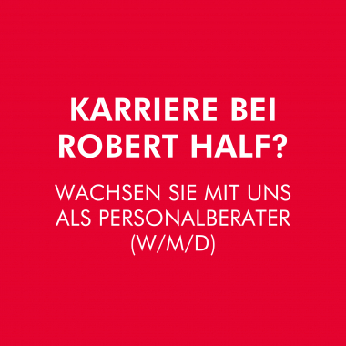 Die passenden Bewerber für die passende Stelle zu finden entfacht Ihre Leidenschaft? Dann sollten wir uns über Ihre Karriere bei Robert Half unterhalten. ___roberthalf.de/interne-karriere