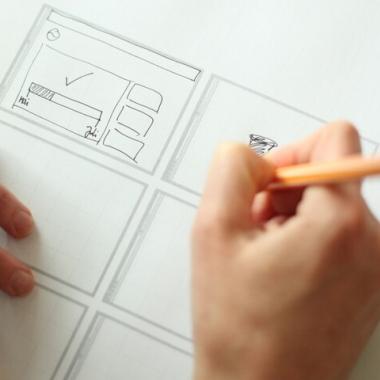 Visualisierung von Arbeit ist bei Yello ein großes Thema. Deshalb wird fleißig gescribbelt.