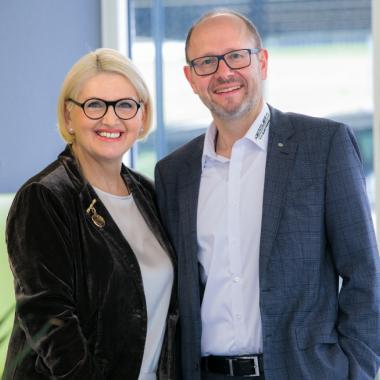 Die Geschäftsleitung - Frau und Herr Reiber