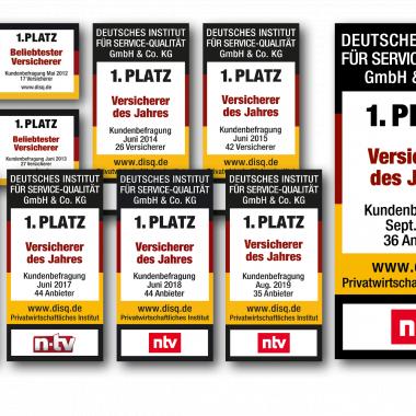 ntv: Versicherer des Jahres - zum 9. Mal in Folge Deutschlands Nr. 1