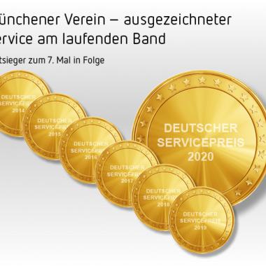 Münchener Verein Deutscher Servicepreis 2020 - zum 7. Mal in Folge, Foto: © Münchener Verein