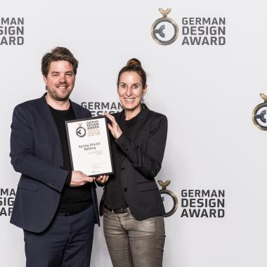 Gemeinsam mit unserer Agentur haben wir in 2019 den German Design Award erhalten.
