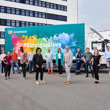 Der DB Schenker Diversity-Truck - Ein Zeichen für Vielfalt im Unternehmen.