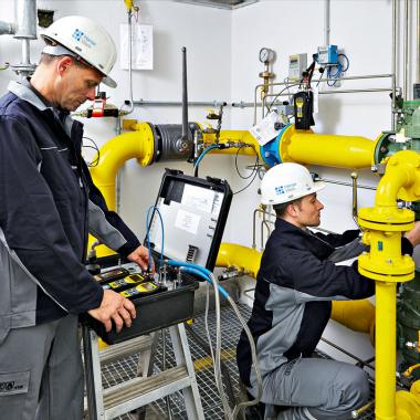 Arbeiten am Gasnetz.