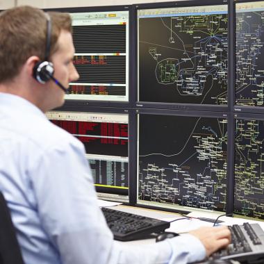 Netzleitstelle für sicheren Netzbetrieb und zuverlässige Versorgung