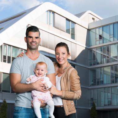 Die Vereinbarkeit von Beruf und Familie ist uns ein besonderes Anliegen.