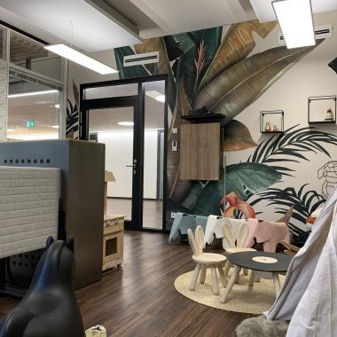 Eltern-Kind-Büro | Ein ruhiger Arbeitsplatz für Eltern mit Nachwuchs.