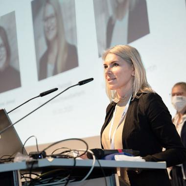 Vortrag von Senior Personalreferentin Irena Marasek auf der HMS Unternehmenskonferenz