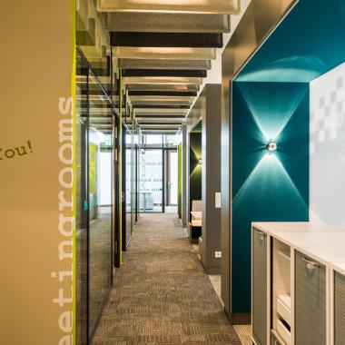 Die offene Bürolandschaft im Erdgeschoß des IAB-Hauptgebäudes.