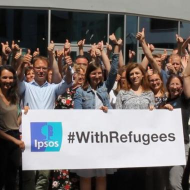 Ipsos Aktion zum World Refugee Day 2019