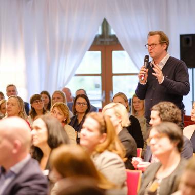 Geschäftsführer Martin Mayer bei der PoP-Konferenz für Pioniere der HR-Welt
