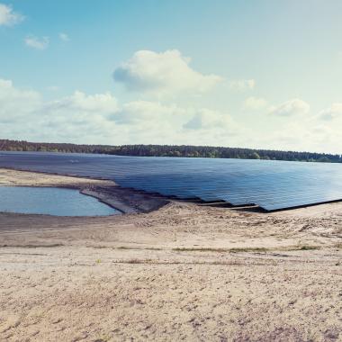 Der Photovoltaik-Park in Ganzlin, den wir  24/7 überwachen.