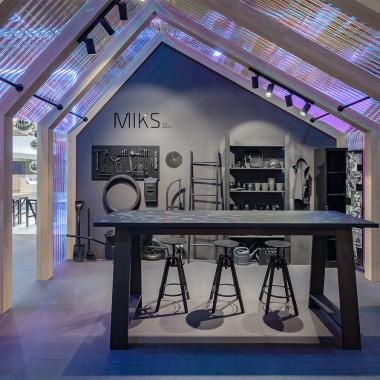 """MIKS zeigt sich auf 15m² Sonderfläche des """"Designers Village"""" auf der EuroShop 2020, Präsentationsraum für Architekten und Designer mit innovativen Gestaltungskonzepten. Was repräsentiert ..."""