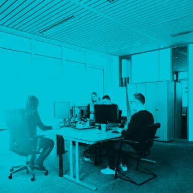 Blick in unsere Bürolandschaft