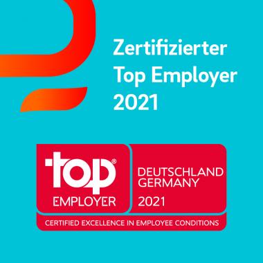 Die Auszeichnung des Top Employers Institute bestätigt unser Commitment, für unsere Mitarbeiter:innen ein optimales Arbeitsumfeld im Zeitalter der Digitalisierung zu schaffen.