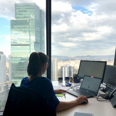 Blick aus dem Büro in Istanbul