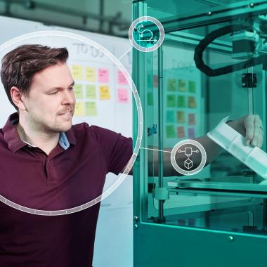 Wir drucken unsere eigenen dreidimensionalen Prototypen. Und auch unsere Arbeitsabläufe werden in allen Dimensionen immer agiler.