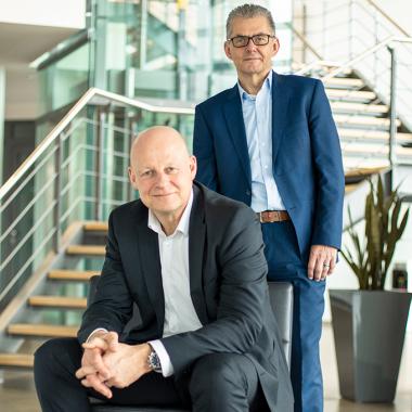 Unsere Geschäftsführer - die Architekten des Erfolges. Ralf Moormann (li) und Detlef Ploew (re).