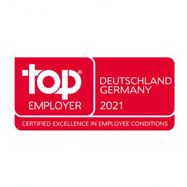 Auszeichnung Top Employer 2021