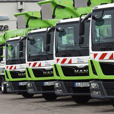 Ein Teil unserer Fahrzeugflotte der ED Netze GmbH