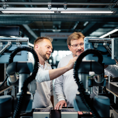 Industrie 4.0 basierte Smartphone-Fertigung in Bocholt
