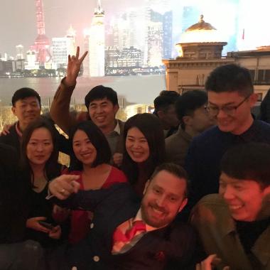Neujahrsfeier der Kollegen in China