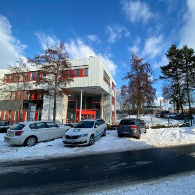 Unser Bürogebäude in der Garvensstraße 4 in Hannover mal ganz eingeschneit.