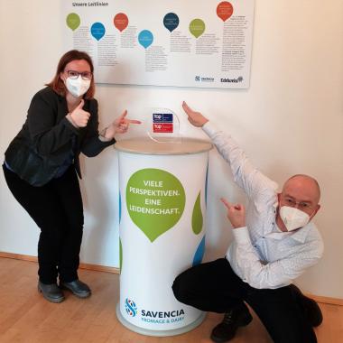 2021 wurde SAVENCIA Fromage & Dairy zum neunten Mal als Top Employer Deutschland zertifiziert und gehört mit der Groupe SAVENCIA auch zu den Top Employer in Europa.