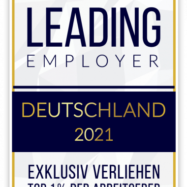 """Wir sind """"Leading Employer 2021""""! Unter allen Dortmundern Unternehmen haben wir sogar den 1. Platz erreicht."""