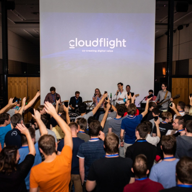 Cloudflight band @Launch party