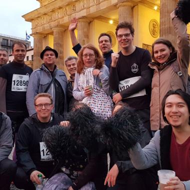 Teilnehmer des Berliner Firmenlaufs