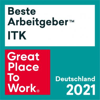 Beste Arbeitgeber ITK 2021 - wir sind prämiert