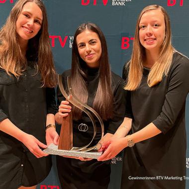 BTV Marketing Trophy 2021 - Gewinnerinnen der HAK Bezau