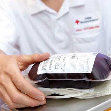 Das fertige Blutprodukt bereit für den Einsatz